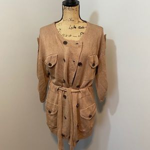 3.1 Phillip Lim Sweater Oversized Tan Belted XS